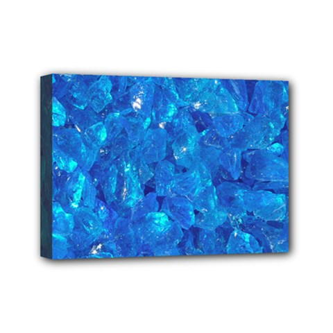 Turquoise Glass Mini Canvas 7  X 5  by trendistuff