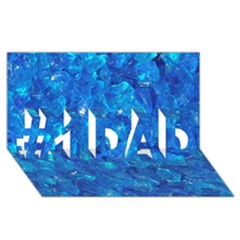 Turquoise Glass #1 Dad 3d Greeting Card (8x4)