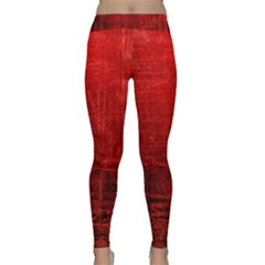 Shades Of Red Yoga Leggings by trendistuff