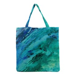 Shades Of Blue Grocery Tote Bags by trendistuff