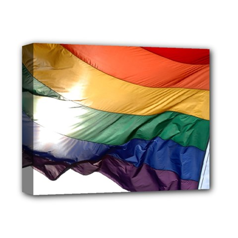 Pride Flag Deluxe Canvas 14  X 11  by trendistuff