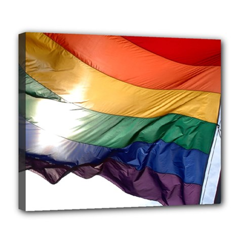 Pride Flag Deluxe Canvas 24  X 20   by trendistuff