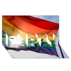 Pride Flag Party 3d Greeting Card (8x4)  by trendistuff