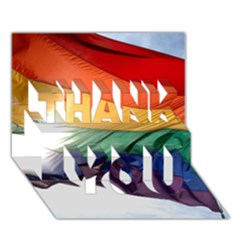 Pride Flag Thank You 3d Greeting Card (7x5)  by trendistuff