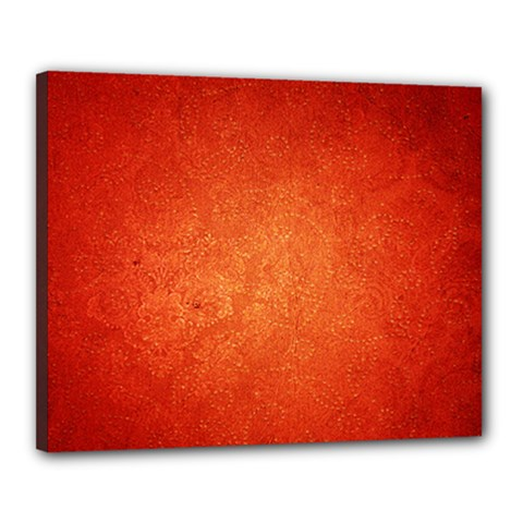 Orange Dot Art Canvas 20  X 16  by trendistuff
