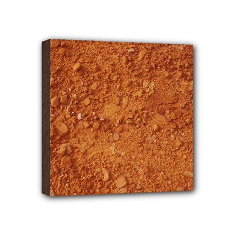 Orange Clay Dirt Mini Canvas 4  X 4  by trendistuff