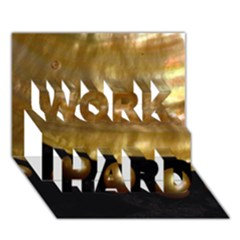 Golden Pearls Work Hard 3d Greeting Card (7x5)  by trendistuff
