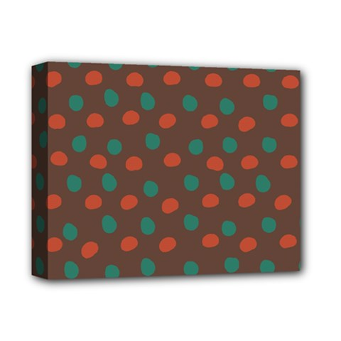 Distorted Polka Dots Pattern Deluxe Canvas 14  X 11  (stretched) by LalyLauraFLM