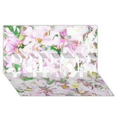 Soft Floral, Spring #1 Mom 3d Greeting Cards (8x4)  by MoreColorsinLife