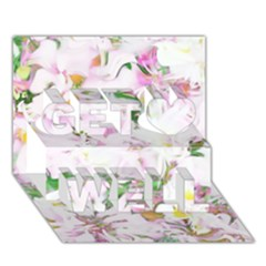 Soft Floral, Spring Get Well 3d Greeting Card (7x5)  by MoreColorsinLife