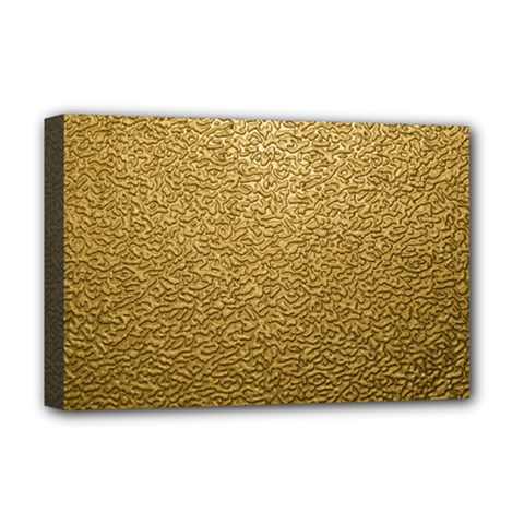 Gold Plastic Deluxe Canvas 18  X 12   by trendistuff