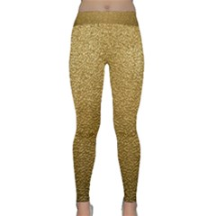 Gold Plastic Yoga Leggings by trendistuff