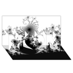 Fractal Mom 3d Greeting Card (8x4)  by trendistuff