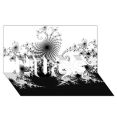 Fractal Hugs 3d Greeting Card (8x4)  by trendistuff