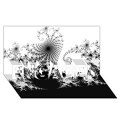 Fractal Engaged 3d Greeting Card (8x4)  by trendistuff