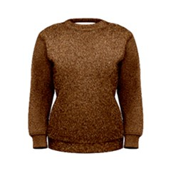 Dark Brown Sand Texture Women s Sweatshirts by trendistuff