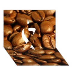 Chocolate Coffee Beans Ribbon 3d Greeting Card (7x5)  by trendistuff