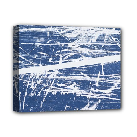 Blue And White Art Deluxe Canvas 14  X 11  by trendistuff