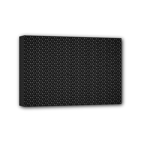 Black Honeycomb Mini Canvas 6  X 4  by trendistuff