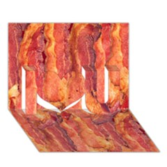 Bacon I Love You 3d Greeting Card (7x5)  by trendistuff