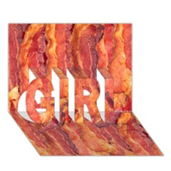 Bacon Girl 3d Greeting Card (7x5)  by trendistuff