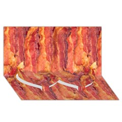 Bacon Twin Heart Bottom 3d Greeting Card (8x4)  by trendistuff