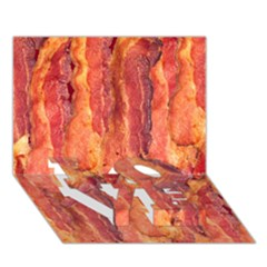 Bacon Love Bottom 3d Greeting Card (7x5)  by trendistuff