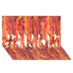 Bacon #1 Mom 3d Greeting Cards (8x4)  by trendistuff