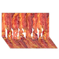 Bacon Best Sis 3d Greeting Card (8x4)  by trendistuff