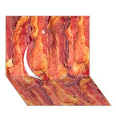 Bacon Circle 3d Greeting Card (7x5)  by trendistuff