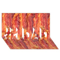 Bacon #1 Dad 3d Greeting Card (8x4)  by trendistuff