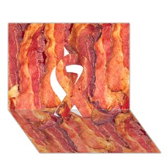 Bacon Ribbon 3d Greeting Card (7x5)  by trendistuff