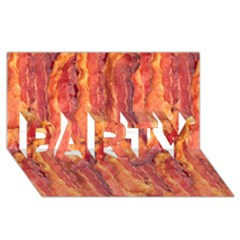 Bacon Party 3d Greeting Card (8x4)  by trendistuff
