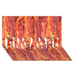 Bacon Engaged 3d Greeting Card (8x4)  by trendistuff