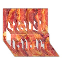 Bacon You Did It 3d Greeting Card (7x5) by trendistuff