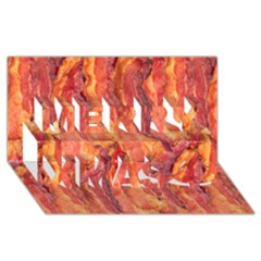 Bacon Merry Xmas 3d Greeting Card (8x4)  by trendistuff