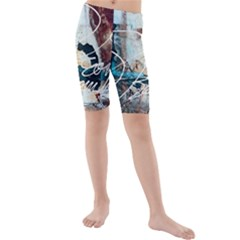 Abstract 1 Kid s Mid Length Swim Shorts by trendistuff