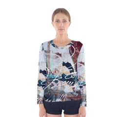 Abstract 1 Women s Long Sleeve T Shirts by trendistuff