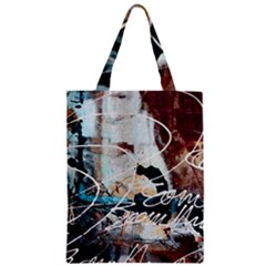 Abstract 1 Zipper Classic Tote Bags by trendistuff