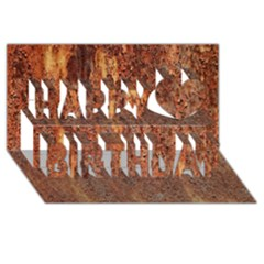 Flaky Rusting Metal Happy Birthday 3d Greeting Card (8x4)