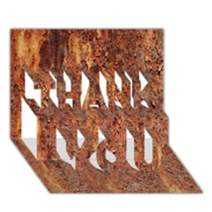 Flaky Rusting Metal Thank You 3d Greeting Card (7x5)  by trendistuff