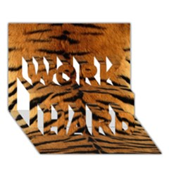 Tiger Fur Work Hard 3d Greeting Card (7x5)  by trendistuff