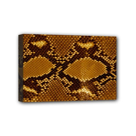Snake Skin Mini Canvas 6  X 4  by trendistuff