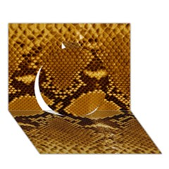 Snake Skin Circle 3d Greeting Card (7x5)  by trendistuff