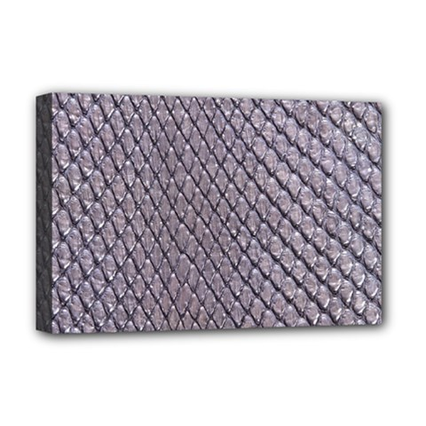 Silver Snake Skin Deluxe Canvas 18  X 12   by trendistuff