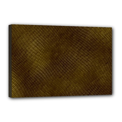 Reptile Skin Canvas 18  X 12  by trendistuff