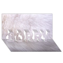 Rabbit Fur Sorry 3d Greeting Card (8x4)