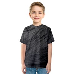 Long Haired Black Cat Fur Kid s Sport Mesh Tees by trendistuff