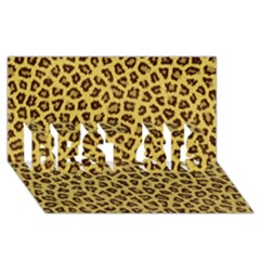 Leopard Fur Best Sis 3d Greeting Card (8x4)  by trendistuff