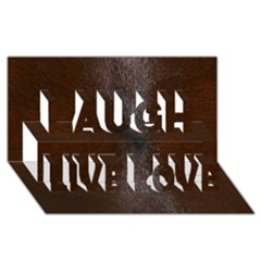 Horse Fur Laugh Live Love 3d Greeting Card (8x4)  by trendistuff